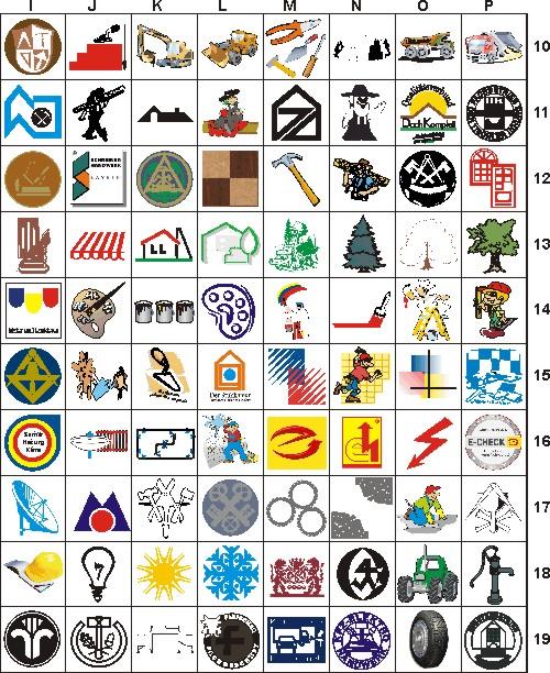 Baustellenschilder zum ausdrucken  fsk-werbung.de - Handwerkssymbole